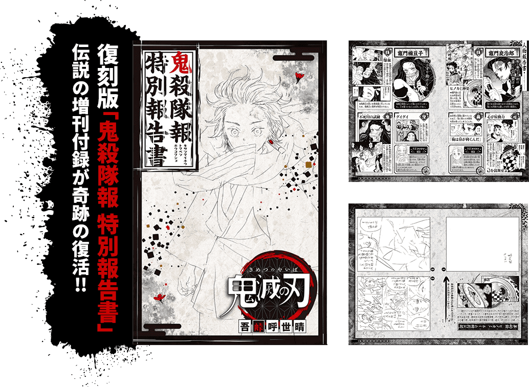 22巻同梱版復刻版「鬼殺隊報特別報告書」小冊子